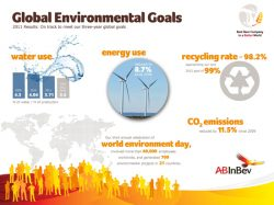 Sustainability Results: AB InBev Beats CO2 Goal Early, Cuts Water 8% in One Year