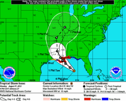 Isaac Shuts Oil, Gas Production; Could Ease Drought
