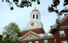 Harvard gold and crimson dome