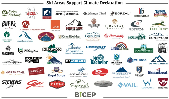 Ski Areas Support Climate Declaration
