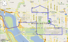 DC map with route