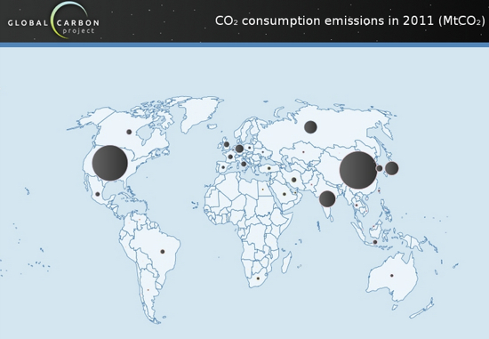Global Carbon Project consumption 2011