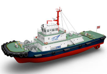 LNG-fueled tugboat
