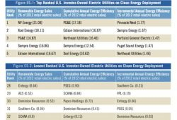 Report Ranks Electric Utility Companies' Renewable Energy, Energy Efficiency Performance