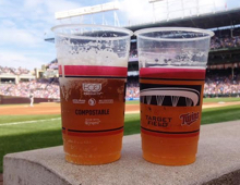 Target Field compostable cups