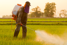 farmer spraying pesticides