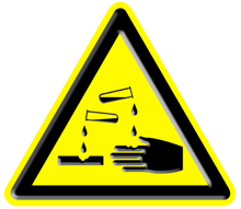 chemical warning sign