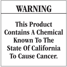 Prop. 65 warning label