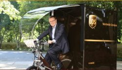UPS Says Its Electric Bikes Are Advanced and Reduce the Company's Carbon Profile